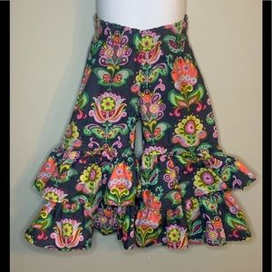 Persnickety Floral Dylan Ruffle Pants sz 2